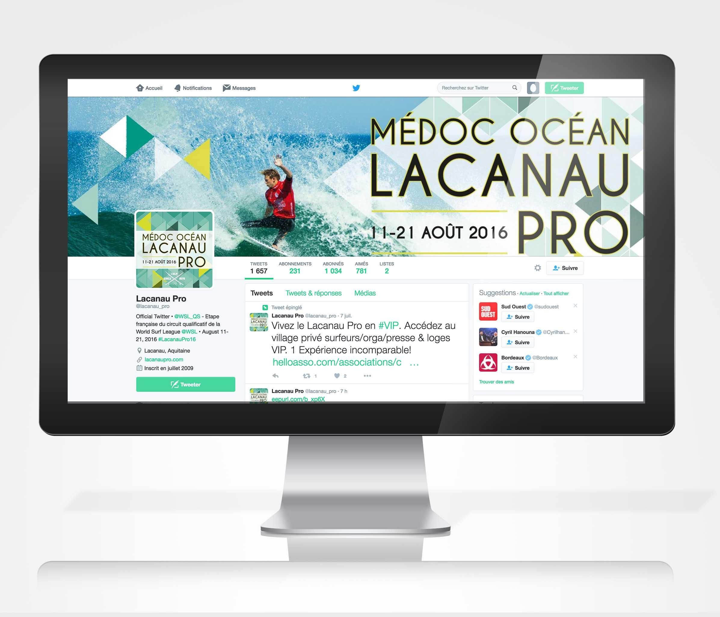 médoc océan lacanau pro réseaux sociaux