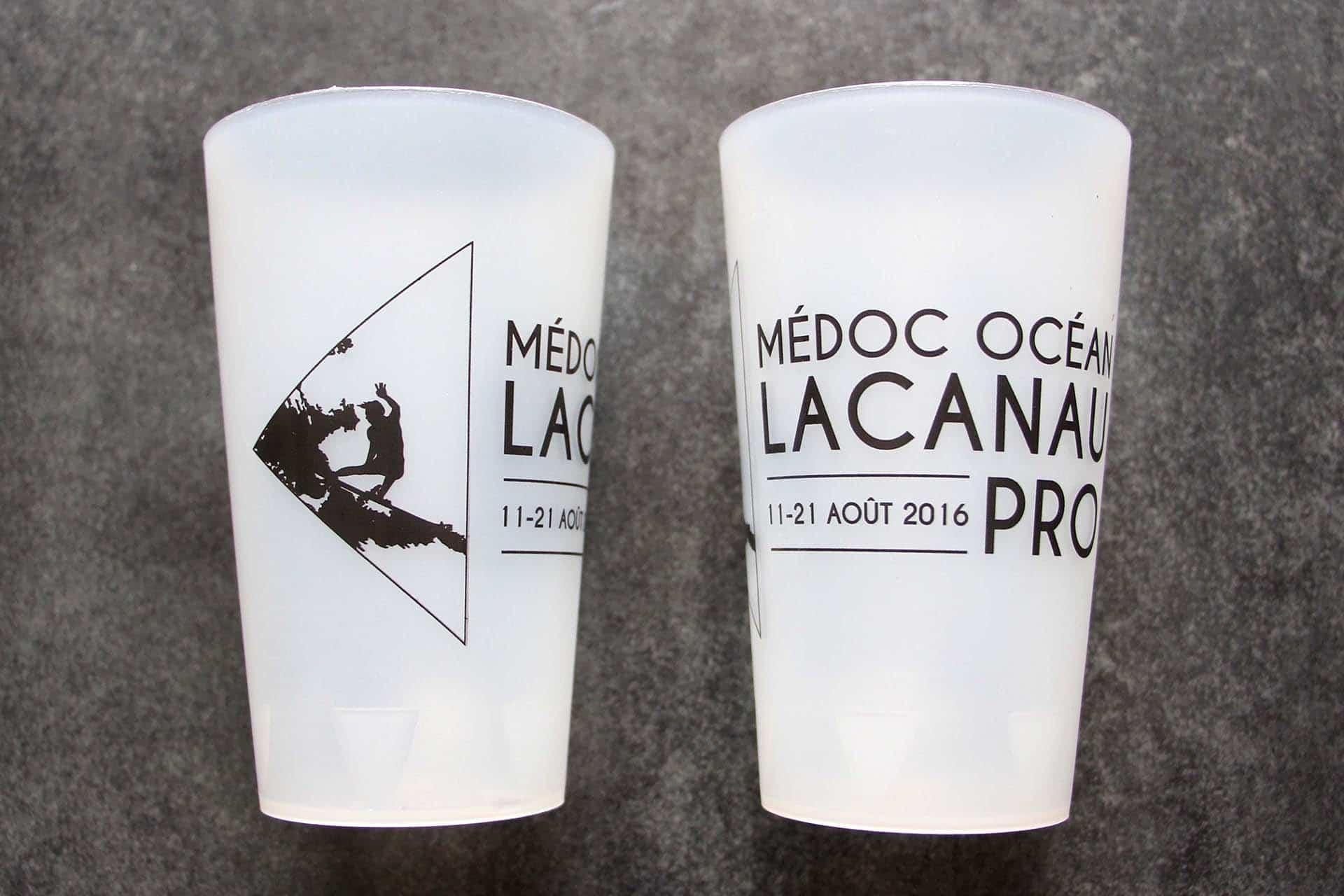 logo pour ecocup du lacanau pro